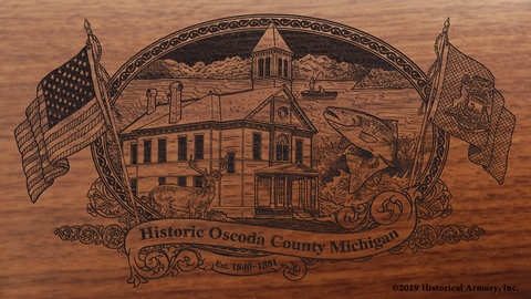Oscoda County Michigan Engraved Rifle