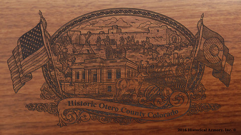 Otero County Colorado Engraved Rifle
