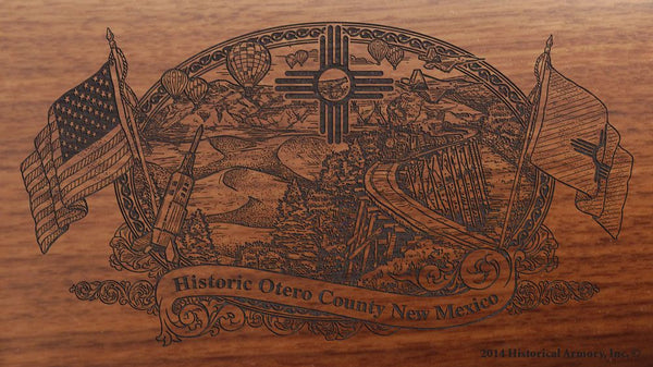 otero county new mexico engraved rifle buttstock