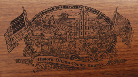 Ottawa County Kansas Engraved Rifle