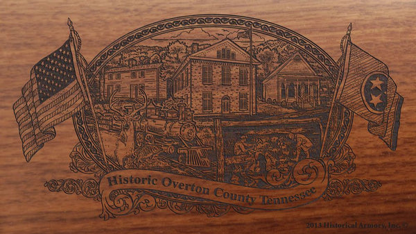 overton county tennessee engraved rifle buttstock