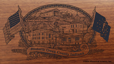 Owen County Indiana Engraved Rifle Buttstock