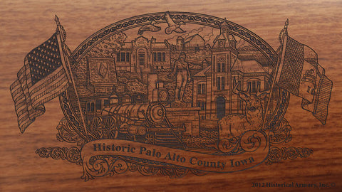 Palo Alto County Iowa Engraved Rifle