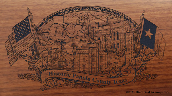 panola county texas engraved rifle buttstock