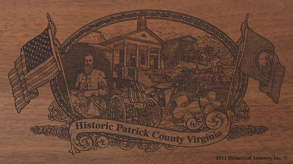 patrick county virginia engraved rifle buttstock