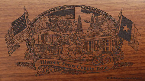pecos county texas engraved rifle buttstock