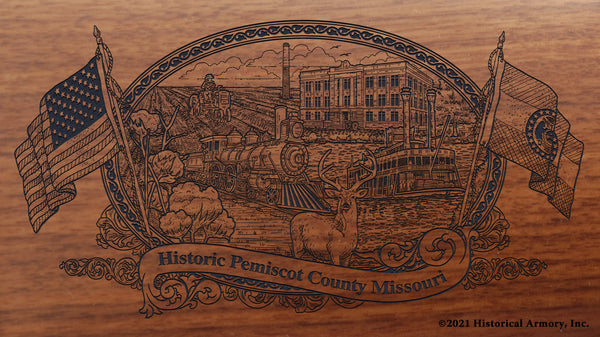 Pemiscot County Missouri Engraved Rifle Buttstock