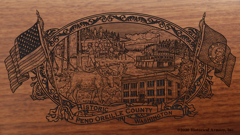 Pend Oreille County Washington Engraved Rifle