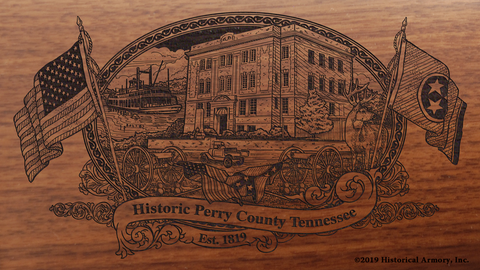 Perry County Tennessee Engraved Rifle