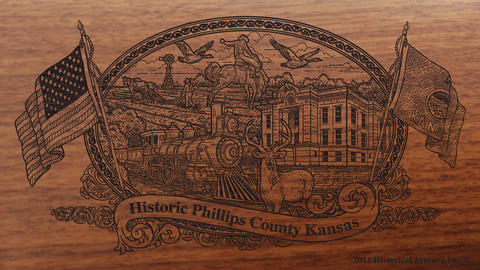 Phillips County Kansas Engraved Rifle