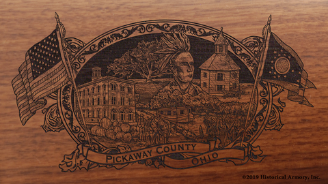 Pickaway County Ohio Engraved Rifle