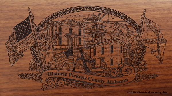 Pickens County Alabama Engraved Rifle