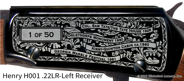 Pickens County Georgia Engraved Rifle
