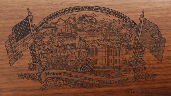 pickens county south carolina engraved rifle buttstock