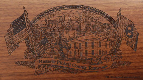 pickett county tennessee engraved rifle buttstock