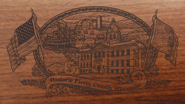 pierce county wisconsin engraved rifle buttstock