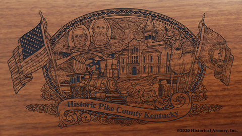 Pike County Kentucky Engraved Rifle Buttstock