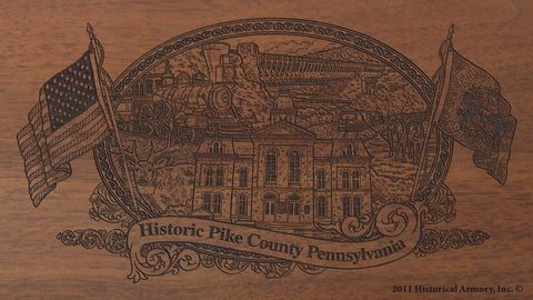 pike county pennsylvania engraved rifle buttstock