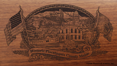 Piscataquis County Maine Engraved Rifle