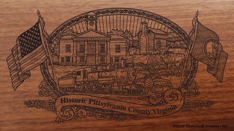 Pittsylvania County Virginia Engraved Rifle