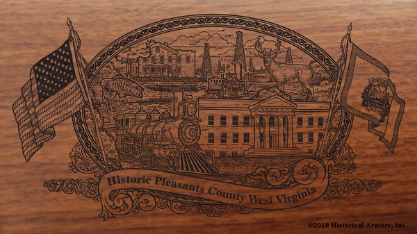 Pleasants County West Virginia Engraved Rifle