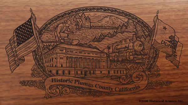 Plumas County California Engraved Rifle