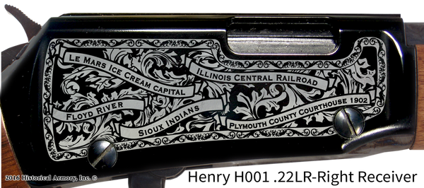Plymouth County Iowa Engraved Rifle