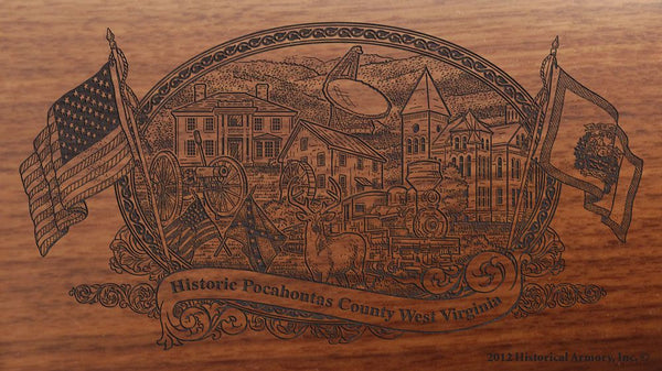 pocahontas county west virginia engraved rifle buttstock