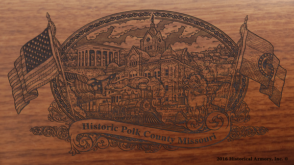 Polk County Missouri Engraved Rifle