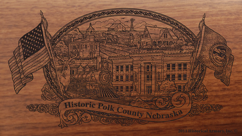 Polk County Nebraska Engraved Rifle