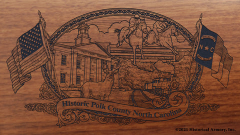 Polk County North Carolina Engraved Rifle Buttstock