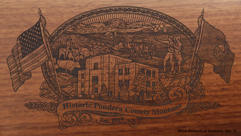 Pondera County Montana Engraved Rifle