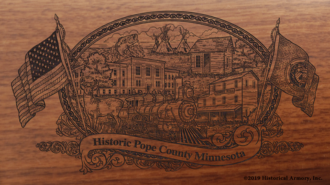 Pope County Minnesota Engraved Rifle