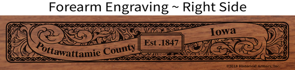 Pottawattamie County Iowa Engraved Rifle