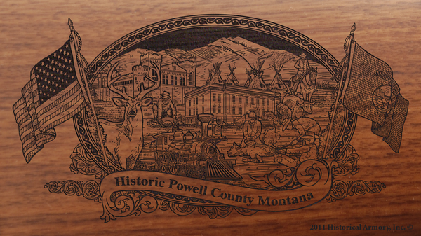 Powell County Montana Engraved Rifle