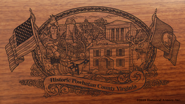 Powhatan County Virginia Engraved Rifle
