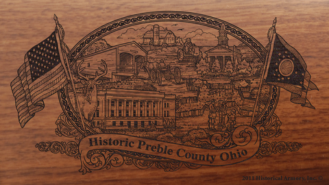 Preble County Ohio Engraved Rifle