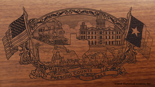 Presidio County Texas Engraved Rifle