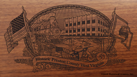 Preston County West Virginia Engraved Rifle