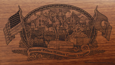 Prince William County Virginia Engraved Rifle