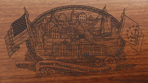 providence county rhode island engraved rifle buttstock