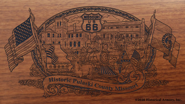 Pulaski County Missouri Engraved Rifle Buttstock