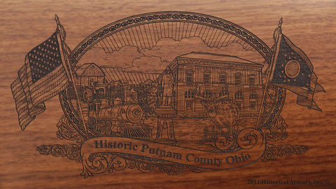 putnam county ohio engraved rifle buttstock