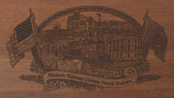 ramsey county north dakota engraved rifle buttstock