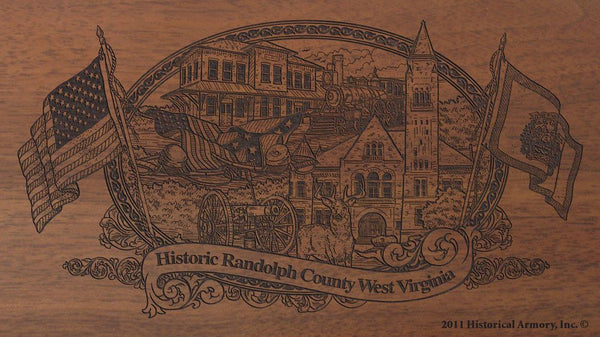 randolph county west virginia engraved rifle buttstock