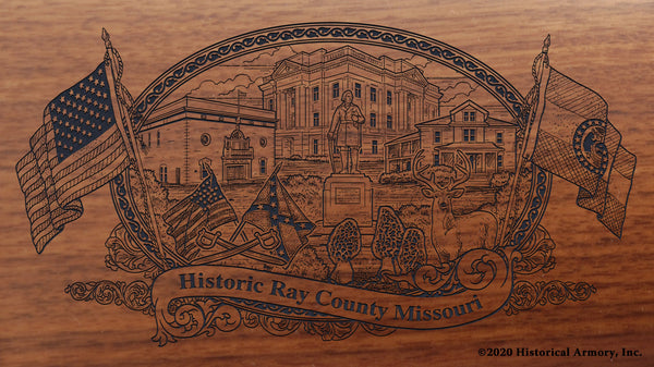 Ray County Missouri Engraved Rifle Buttstock