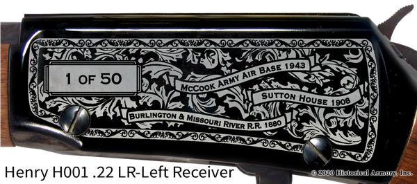 Red Willow County Nebraska Engraved Rifle