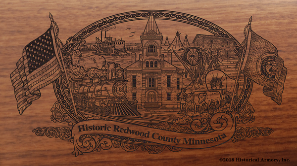 Redwood County Minnesota Engraved Rifle