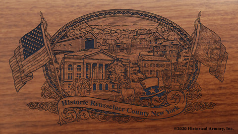 Rensselaer County New York Engraved Rifle Buttstock