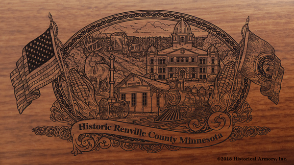 Renville County Minnesota Engraved Rifle